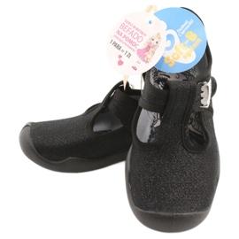 Befado  obuwie dziecięce blanka czarna 115X006 czarne srebrny 8