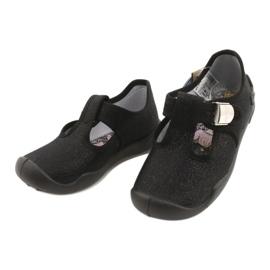 Befado  obuwie dziecięce blanka czarna 115X006 czarne srebrny 5