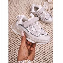 Apawwa Dziecięce Sportowe Buty Sneakersy Z Przezroczystą Podeszwą Białe Bailey 2
