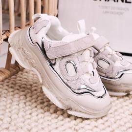 Apawwa Dziecięce Sportowe Buty Sneakersy Z Przezroczystą Podeszwą Białe Bailey 1