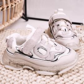 Apawwa Dziecięce Sportowe Buty Sneakersy Z Przezroczystą Podeszwą Białe Bailey 3