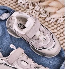 Apawwa Dziecięce Sportowe Buty Sneakersy Z Przezroczystą Podeszwą Białe Bailey 5