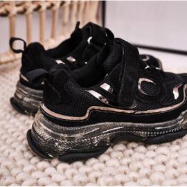Apawwa Dziecięce Sportowe Buty Sneakersy Z Przezroczystą Podeszwą Czarne Bailey 4