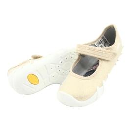 Befado obuwie dziecięce speedy złote 109P224 beżowy złoty 4