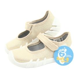 Befado obuwie dziecięce speedy złote 109P224 beżowy złoty 7