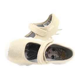 Befado obuwie dziecięce speedy złote 109P224 beżowy złoty 5