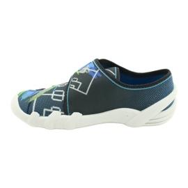 Befado obuwie dziecięce 273X317 niebieskie szare wielokolorowe zielone 2