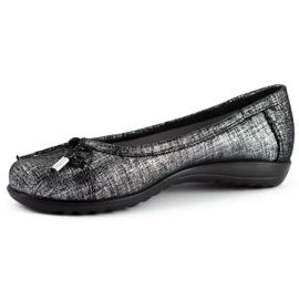 Dolce Pietro Baleriny damskie 2105 czarno-srebrne czarne 1