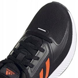Buty dla dzieci adidas Runfalcon 2.0 K czarno-pomarańczowe FY9500 czarne 3