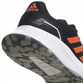 Buty dla dzieci adidas Runfalcon 2.0 K czarno-pomarańczowe FY9500 czarne 4