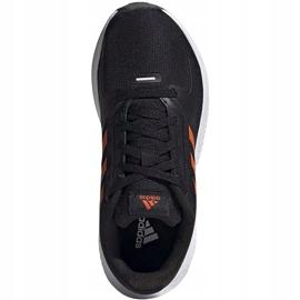 Buty dla dzieci adidas Runfalcon 2.0 K czarno-pomarańczowe FY9500 czarne 1