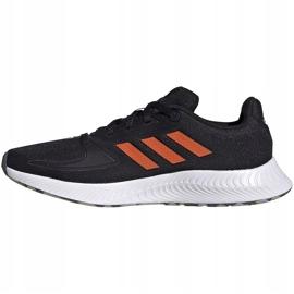 Buty dla dzieci adidas Runfalcon 2.0 K czarno-pomarańczowe FY9500 czarne 2