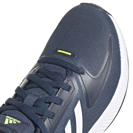 Buty dla dzieci adidas Runfalcon 2.0 K granatowe FY9498 białe 2