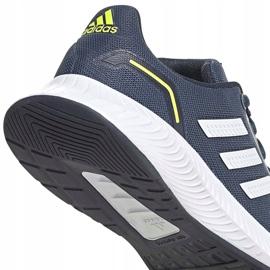 Buty dla dzieci adidas Runfalcon 2.0 K granatowe FY9498 białe 4
