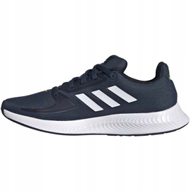 Buty dla dzieci adidas Runfalcon 2.0 K granatowe FY9498 białe 3