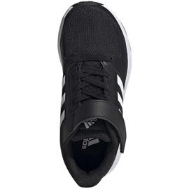 Buty dla dzieci adidas Runfalcon 2.0 czarne FZ0113 białe 1