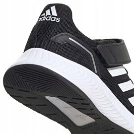 Buty dla dzieci adidas Runfalcon 2.0 czarne FZ0113 białe 4