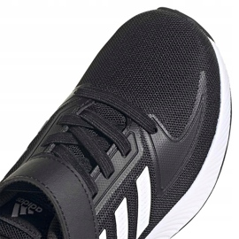 Buty dla dzieci adidas Runfalcon 2.0 czarne FZ0113 białe 3