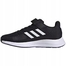 Buty dla dzieci adidas Runfalcon 2.0 czarne FZ0113 białe 2