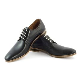 Buty wizytowe męskie 579 czarne 3