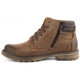 ABIS Ocieplane buty męskie 197 brązowe 1