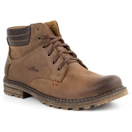 ABIS Ocieplane buty męskie 197 brązowe 2