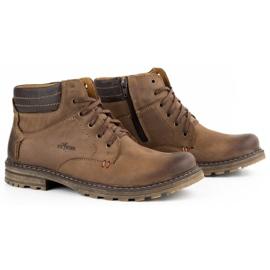 ABIS Ocieplane buty męskie 197 brązowe 3