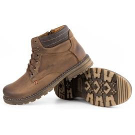 ABIS Ocieplane buty męskie 197 brązowe 4