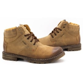 ABIS Ocieplane buty męskie 197 brązowe 5