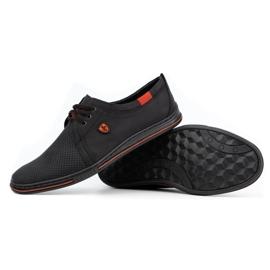 Polbut Skórzane buty męskie 343 perforacja czarne 3