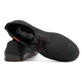 Polbut Skórzane buty męskie 343 perforacja czarne 4