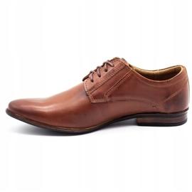 KOMODO Wizytowe buty męskie 850 brązowe 1