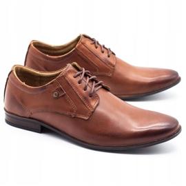 KOMODO Wizytowe buty męskie 850 brązowe 2