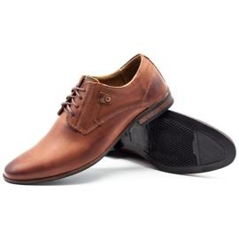 KOMODO Wizytowe buty męskie 850 brązowe 3