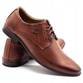 KOMODO Wizytowe buty męskie 850 brązowe 4