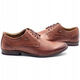 KOMODO Wizytowe buty męskie 850 brązowe 5