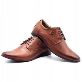 KOMODO Wizytowe buty męskie 850 brązowe 6