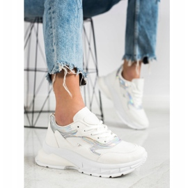 Sweet Shoes Stylowe Białe Sneakersy 4