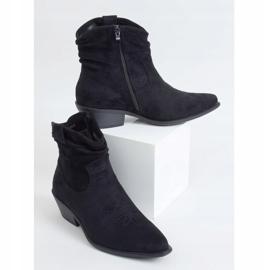 Botki damskie kowbojki czarne 99-65 Black 1