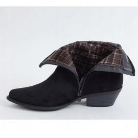 Botki damskie kowbojki czarne 99-65 Black 2