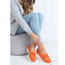 Mokasyny damskie pomarańczowe RQ-2 Orange 2