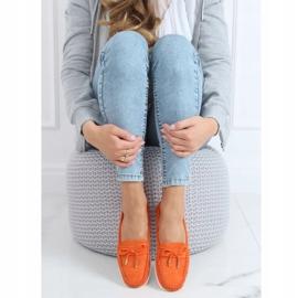 Mokasyny damskie pomarańczowe RQ-2 Orange 3