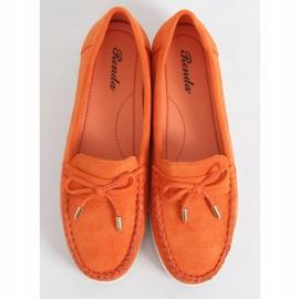 Mokasyny damskie pomarańczowe RQ-2 Orange 1