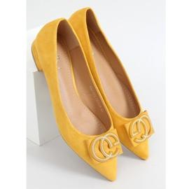 Baleriny migdałowe noski miodowe FM3107A Yellow żółte 1