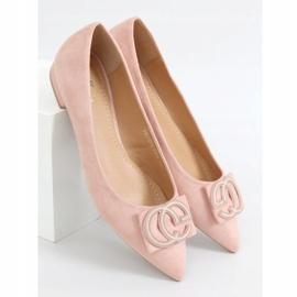 Baleriny migdałowe noski różowe FM3107A Pink 1