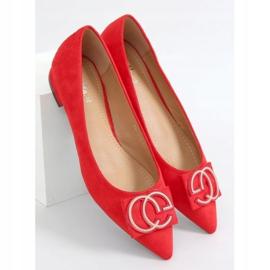 Baleriny migdałowe noski czerwone FM3107A Red 1