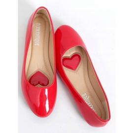 Baleriny lakierowane czerwone 9988-60 Red 1
