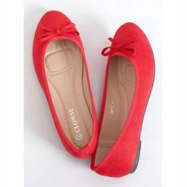 Baleriny zamszowe czerwone 9F116 Red 1