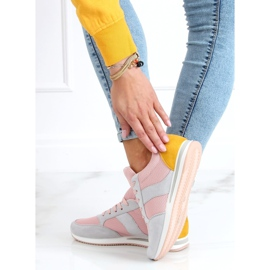 Buty sportowe wielokolorowe SC26 Grey różowe 3