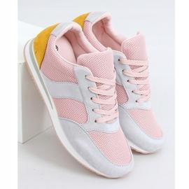 Buty sportowe wielokolorowe SC26 Grey różowe 1